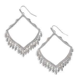 KENDRA SCOTT • Silver Lacy Fringe Earrings